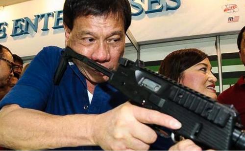 Philippine president Rodrigo Duarte