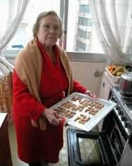 grandma baking cookies
