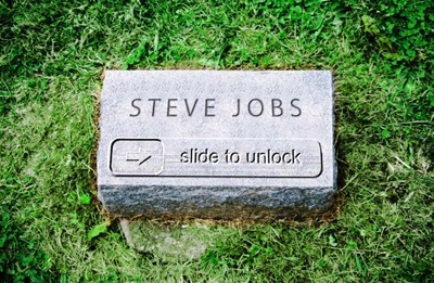 Steve Jobs' Headstone (not really)