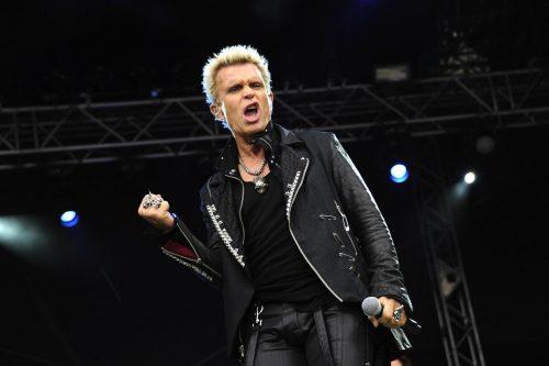 Billy Idol performing in Hamburg, Germany