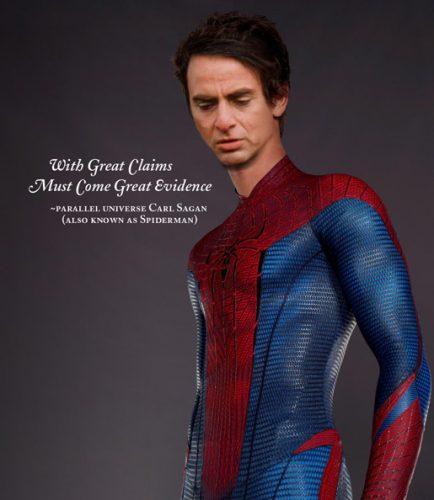 Carl Sagan as Spider-Man