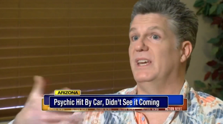 Psychic Didn't See Car Coming