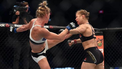 Holly Holm Knocking out Rhonda Rousey