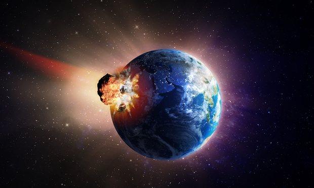 Comet hitting Earth