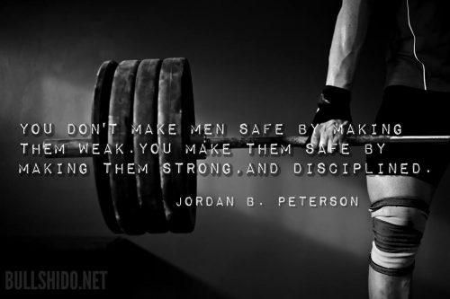 Meme: quote from Jordan B. Peterson on Safety and Strength