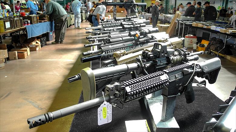 AR-15s at a Gun Show