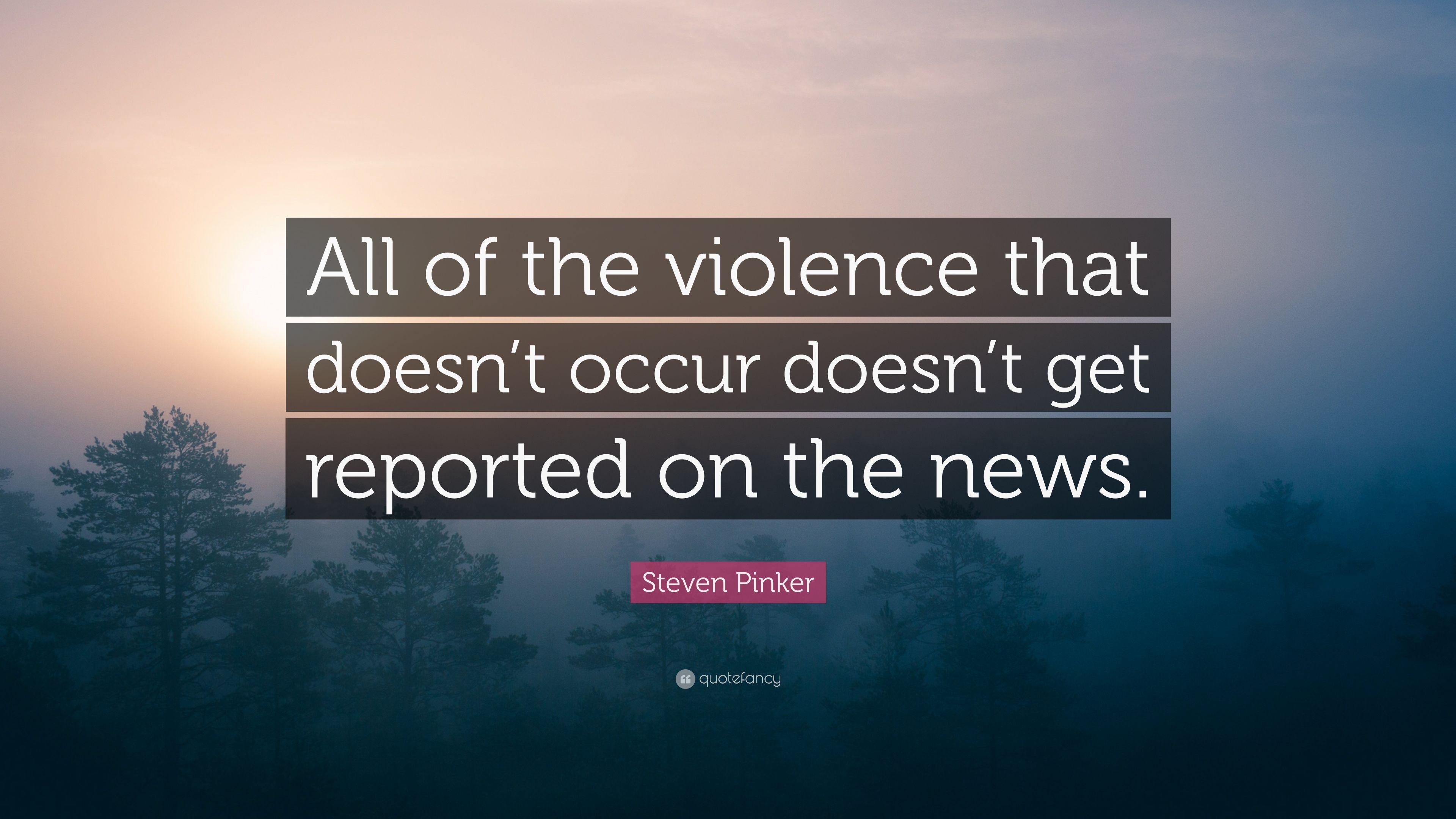 Pinker Violence