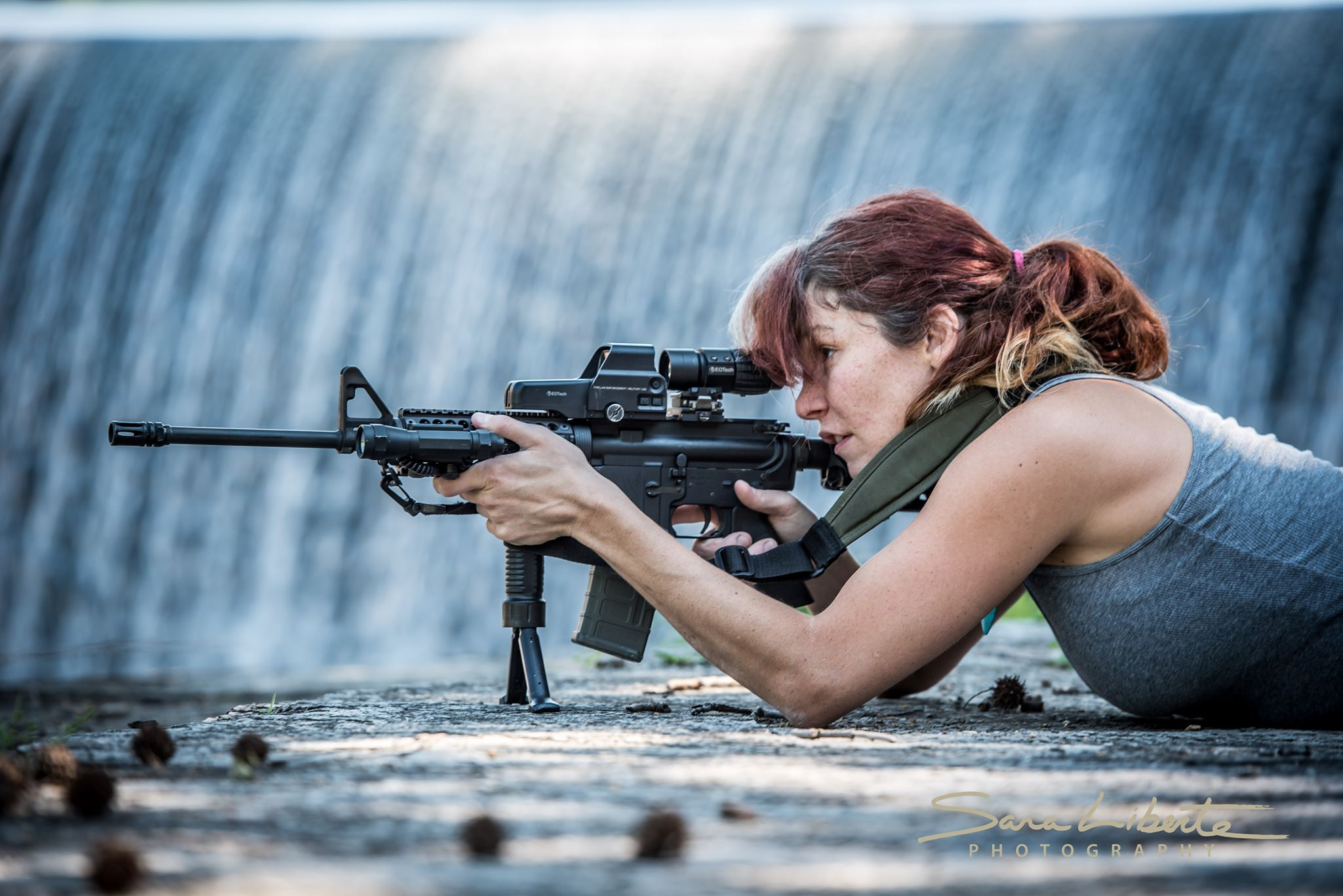 Woman with AR-15