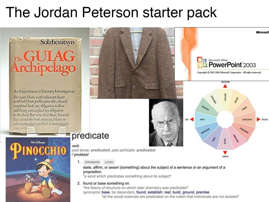 Jordan Peterson Starter Pack