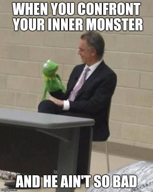 Jordan Peterson and Kermit T. Frog