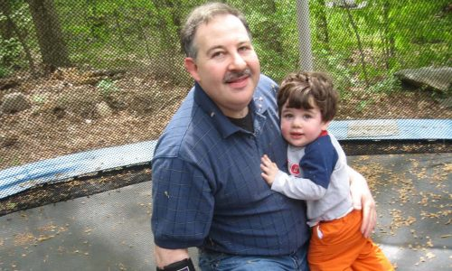 Leonard Pozner and his murdered son Noah