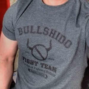 Phrost, wearing the Bullshido Gym Shirt