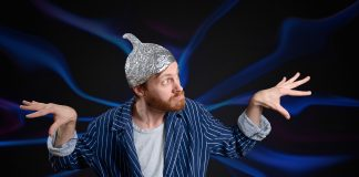 tinfoil hat conspiracy theorist